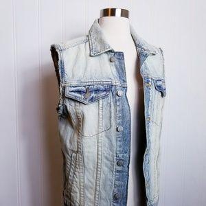 NWT, Aeropostale Frayed Denim (Unisex) Vest